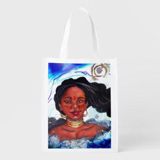 Black Woman Reusable Bag