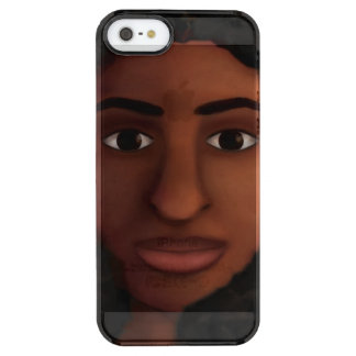 Black Woman Watching Clear iPhone SE/5/5s Case