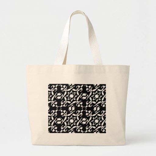 Black Wonder  Circle Tote Bag