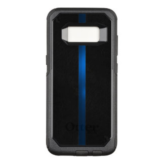 Black Wood Appearance Thin Blue Line OtterBox Commuter Samsung Galaxy S8 Case