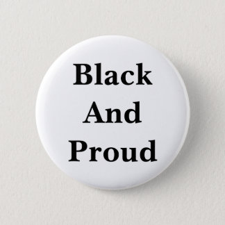 Black words on a white background--the way it is. 6 cm round badge