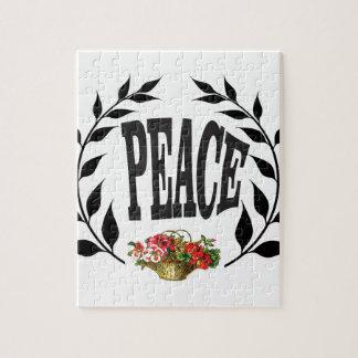 black wreath peace puzzle