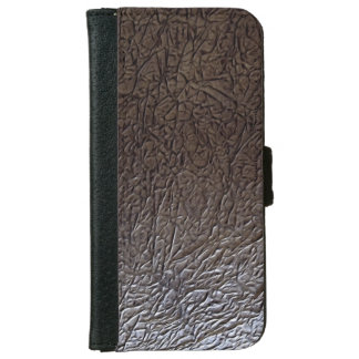 Black Wrinkle Leather Look iPhone 6 Wallet Case