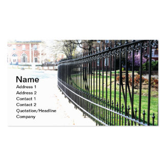 black wrought iron fence business cards