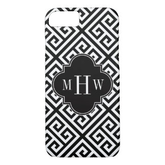 Black Wt Med Greek Key Diag T Black 3I Monogram iPhone 8/7 Case