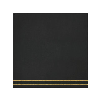 Black X Gold Canvas Print