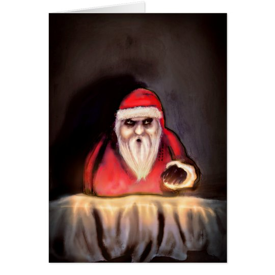 Black Xmas: Santa Claus is Here Card
