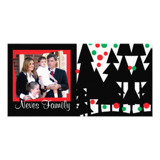Black Xmas Tree Photo Card