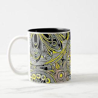 Black & Yellow 11 oz Two-Tone Mug