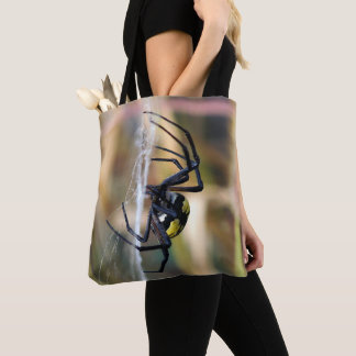 Black & Yellow Argiope Garden Spider Tote Bag