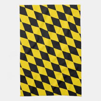 Black Yellow Bavaria Flag Tea Towel
