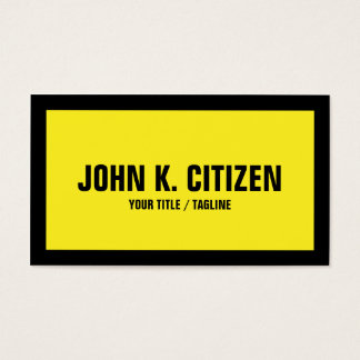 Black / Yellow Bold Business Card