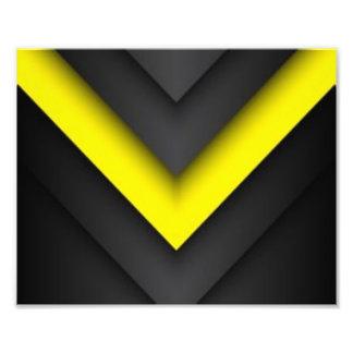 Black & Yellow Chevron Pattern Print Design