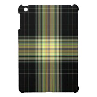 Black Yellow Giant Tartan Plaid Cover For The iPad Mini