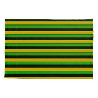 Black Yellow Green Striped Pillowcase, Pillowcase