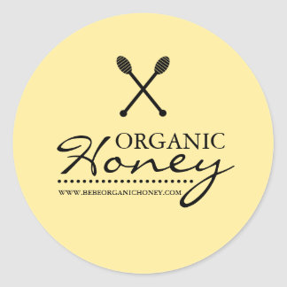 Black & Yellow Honey Business Sticker