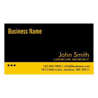 Black & Yellow Landscape Architect Business Card
