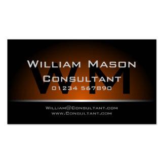 Black Yellow Monogram Professional - Business Card