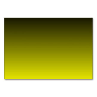 Black Yellow Ombre Table Card