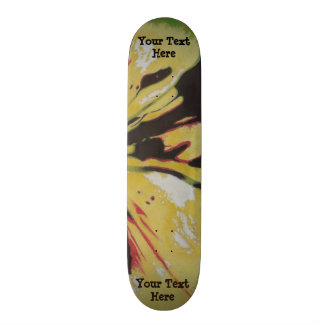 black yellow original modern abstract art design custom skate board