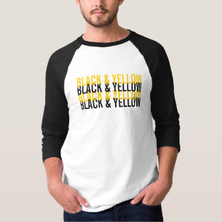 Black & Yellow Pittsburgh Love T-Shirt