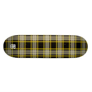 Black & Yellow Plaid Skate Board Decks