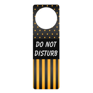 Black & Yellow Polka Dots | Do Not Disturb Sign