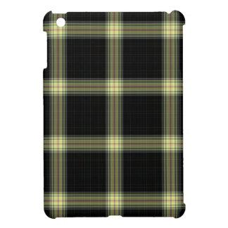 Black Yellow Tartan Plaid iPad Mini Cover