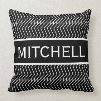 Black ZChain Personalized Cushion