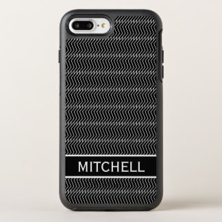 Black ZChain Personalized OtterBox Symmetry iPhone 8 Plus/7 Plus Case