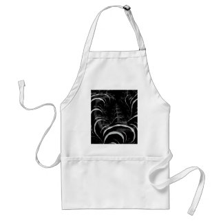 Black Zebra Glossy Fractal Art Standard Apron