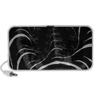 Black Zebra Glossy Fractal Art Notebook Speakers