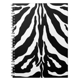 Black Zebra Print Notebook