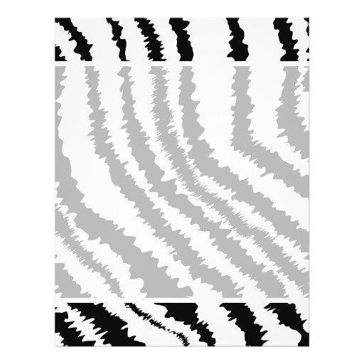 Black Zebra Print Pattern. 21.5 Cm X 28 Cm Flyer