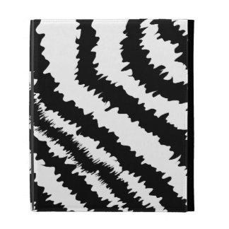 Black Zebra Print Pattern. iPad Folio Covers