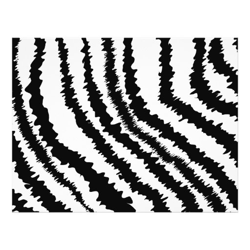 Black Zebra Print Pattern. Full Color Flyer