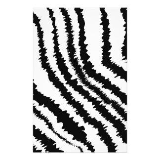 Black Zebra Print Pattern. Custom Flyer