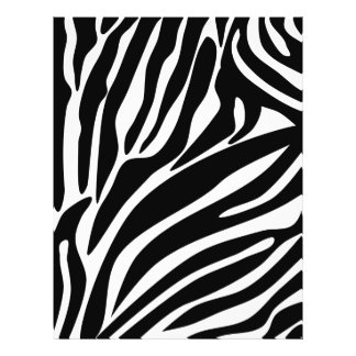 Black Zebra Print Pattern Flyer