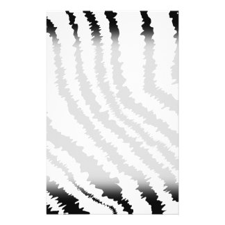 Black Zebra Print Pattern Flyers