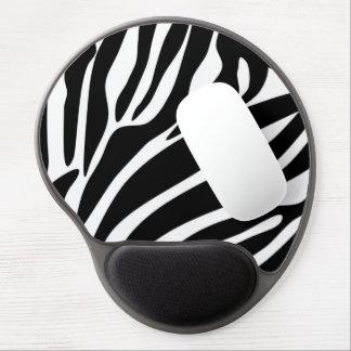 Black Zebra Print Pattern Gel Mouse Pads