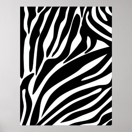 Black Zebra Print Pattern