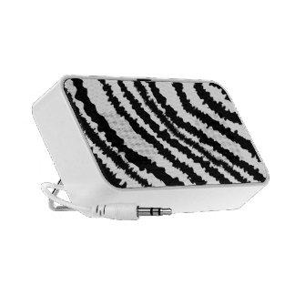 Black Zebra Print Pattern. Travelling Speakers