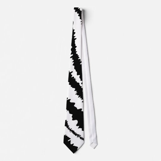 Black Zebra Print Pattern. Tie