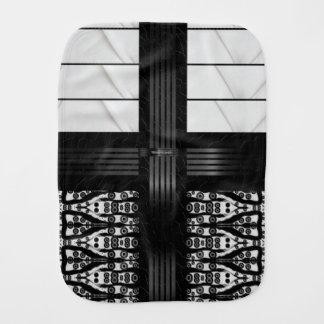 Black Zebra White Stripes Burp Cloths