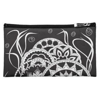 black zen pattern with sends them makeup bag