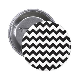 Black zig zags zigzag chevron pattern pin