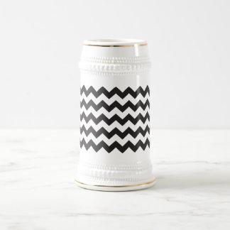 Black zig zags zigzag chevron pattern coffee mugs