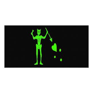 Blackbeard -Green Photo Card Template