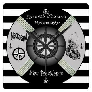 Blackbeard ~Queen Anne's Revenge ~Pirate~Life-ring Wallclocks