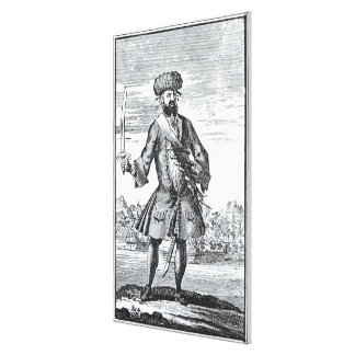 Blackbeard the Pirate, from 'A General History of Canvas Prints